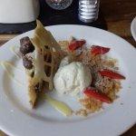 white chocolate and honeycomb cheese cake