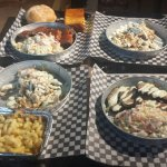 Pulled Chicken/Brisket/Cornbread/Coleslaw