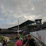 Third base side lawn seats
