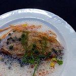 Charivari's Dover sole with a foamy caper sauce