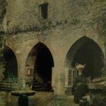 Foto patio interior del Parador comienzos siglo XX