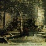 Foto patio interioro del Parador comienzos siglo XX