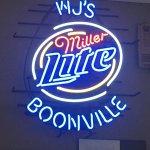 WJ's bar sign...