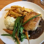Steak and Ale Pie at The Crown