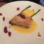 Cod fillet au gratin with crust of prawn