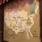 خريطة امريكا في مطعم بيج ويج