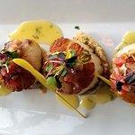 Huge scallops and fantastic flavors