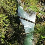 LIttle Qualicum falls.  Upper falls.