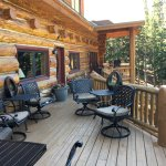 Back deck with great mountain view