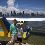 Reviewer, son, and one of their planes.