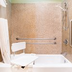 Super 8 Lubbock TX Accessible Bath and Shower