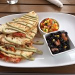 Awesome Lobster Quesadilla!  Look at it!! oh Yeah!!