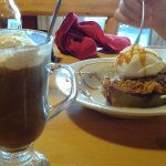 Maple coffee and wild blueberry crisp