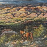 painting depicting TR in the Painted Canyon