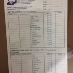 Dry Cleaning Prices