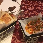 with mash potatoes stuffed bread, really yummy OK spicy, Chicken Chili with very spicy