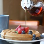 Delicious Waffles With Syrup