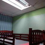 Broken lamp and poor maintain ceiling