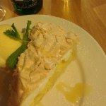 Lemon Meringue pie and ice cream