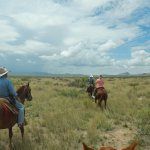On horseback - I felt like I was in a John Ford western!