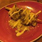 Brocheta de pollo con cuscus