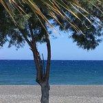 View from pool of Kamari Beach