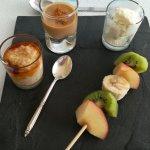 Le dessert d'une table d'hôtes
