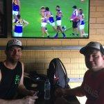 AFL games live on the TV