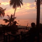 view from the bar at sunset!