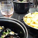 Moules frites pris au restaurant pendant le spectacle => nous nous sommes régalés !