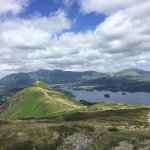 From the top of Catbells looking towards Keswick
