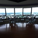 View of the inside of the Sky Dome Restaurant.