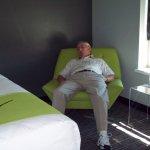 Husband resting
