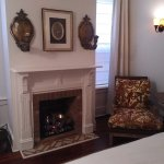 Fireplace in the Avery Suite Master Bedroom