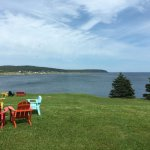 Chairs for watching wildlife on the bay