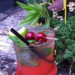 Sour Cherry Mojito with home grown Birchwood mint