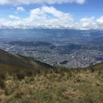 Quito from 13,500 feet!