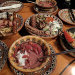 Borsch and meat plates.. Yummy!! +++