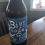 Blueberry soda from Maine. Delicious! I wish we could get it at home