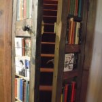 Secret access to the 'Narnia Room' behind the book case