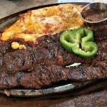 Fajita Steak Tampiquena is skirt steak with a cheese enchilada. Mine was tough and I missed onio