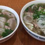 Rare Steak rice noodle soup $7.15-large and small 072917