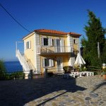 The three one-bedroom apartments, overlooking the Ionian Sea
