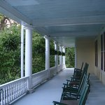 Rocking chairs on both the first and second floor porches to relax and take in the mountain view