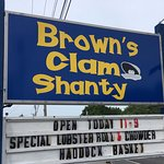 Brown's Clam Shanty sign, Rt 1 Wells, ME