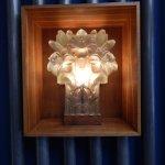 Jersey Lily motif in the foyer door