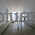 "Installation Piece from Glenn Ligon's ""Blue Black"" Exhibition"