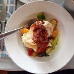 Caprese, a great egg, bread and bacon dish!