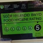 The restaurant now has a top rate hygene rating.