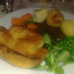 Beautiful roast beef and Yorkshire pudding